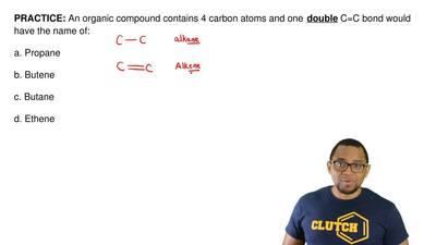 An organic compound contains 4 carbon atoms and one  double C=C bond would hav...