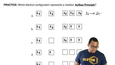 Which electron configuration represents a violation Aufbau Principle?   ...
