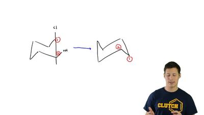 Draw the ring flip for each of the following compounds: ...