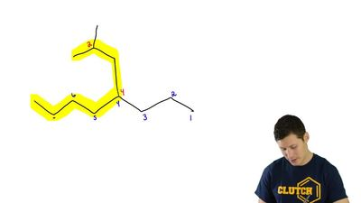 Each of the structures in the previous problem has one or more substituents co...