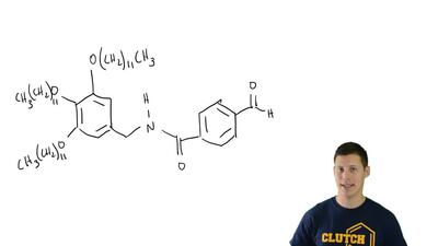 The following compound is an intermediate in the synthesis of a gelator, which...