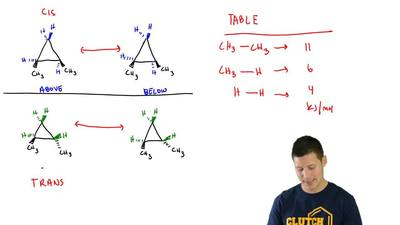 Consider the structures of cis-1,2-dimethylcyclopropane and trans-1,2-dimethyl...