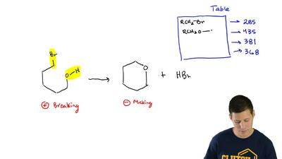 Consider the following reaction:  Use Table 6.1 to estimate ΔH for this reacti...