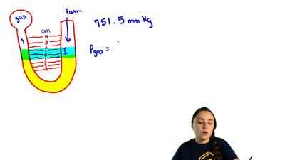 Given a barometric pressure of75 1.5 mmHg, calculate the pressure of each gas ...