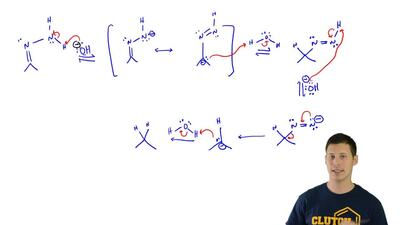 For the following mechanism, identify the sequence of arrow-pushing patterns:...