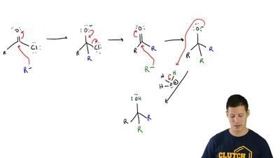 For the following mechanism, identify the sequence of arrow-pushing patterns: ...