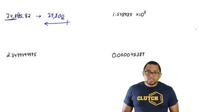 Round each number to three significan t figures.  a. 79,845.82  b. 1.548937 X ...