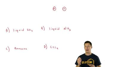 Which of the following solvents should be capable of dissolving ionic compound...