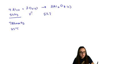 Oxygen gas reacts with powdered aluminum according to the reaction:  4 Al(s) ...