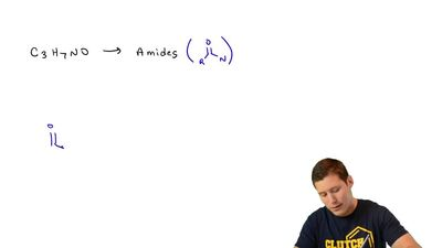 There are four amides with the formula C3H7NO. (a) Write their structures. ( b...