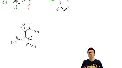 For each compound below, identify the most acidic proton in the compound: ...