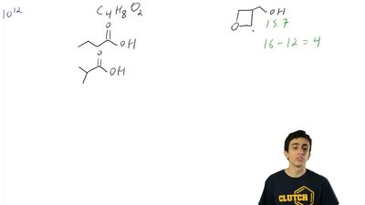 Consider the following compound with molecular formula  C 4H8O:  (b) Draw a co...