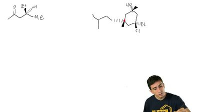 Identify the configuration of each chirality center in the following compounds...