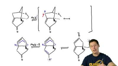 Under basic conditions (catalytic MeO– in MeOH), compound 1 rearranges through...