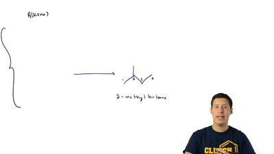 (a) Three different alkenes yield 2-methylbutane when they are hydrogenated in...