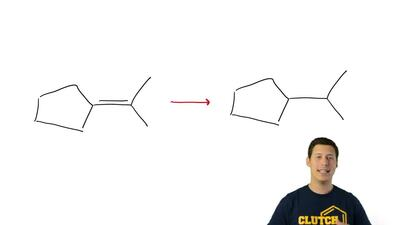 Specify the missing compounds and/or reagents in each of the following synthes...