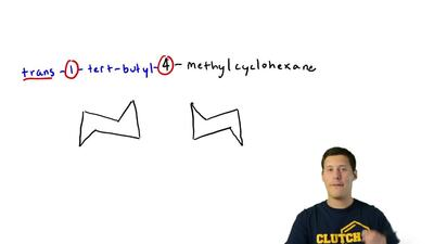 Write the two chair conformations of each of the following and in each part de...