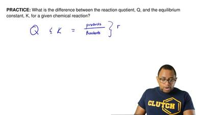 What is the difference between the reaction quotient, Q, and the equilibrium c...