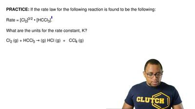 If the rate law for the following reaction is found to be the following:  Rate...