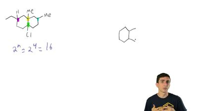Identify the number of stereoisomers expected for each of the following: ...