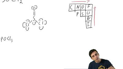 Write a Lewis structure for each of the following:  (b) POCl3 ...