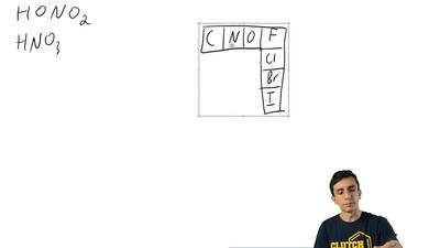 Write a Lewis structure for each of the following:  (d) HONO2 (HNO3) ...