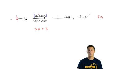 Explain the following observations: When tert-butyl bromide is treated with so...