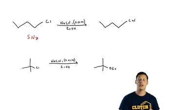 In contrast to SN2 reactions, SN1 reactions show relatively little nucleophile...