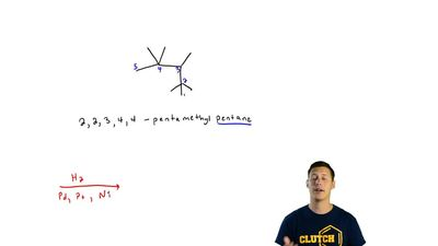 (a) How many alkenes yield 2,2,3,4,4-pentamethylpentane on catalytic hydrogena...