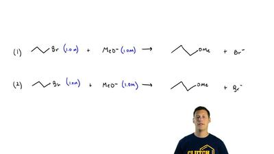 Which SN2 reaction of each pair would you expect to take place more rapidly in...