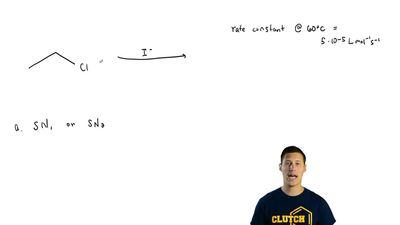 Consider the reaction of I - with CH3CH2Cl.(a) Would you expect the reaction t...