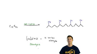 A certain compound of molecular formula C19H38 was isolated from fish oil and ...
