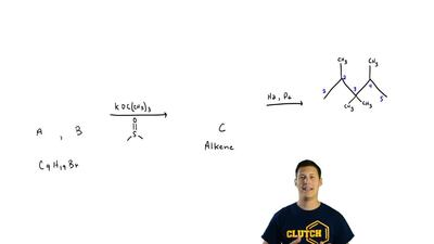 Compounds A and B are isomers of molecular formula C9H19Br. Both yield the sam...