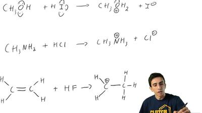 Rewrite each of the following reactions using curved arrows and show all nonbo...