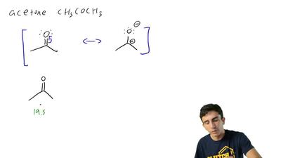 As noted in Table 3.1, the pKaof acetone, CH3COCH3, is 19.2.  (b) Predict an...
