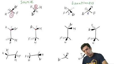 Consider the following pairs of structures. Designate each chirality center as...