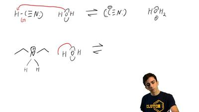 Write an equation for the Brønsted–Lowry acid–base reaction that occurs when e...