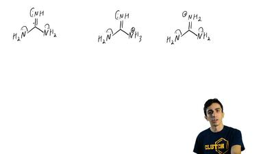 Of two possible structures A and B for the conjugate acid of guanidine, the mo...