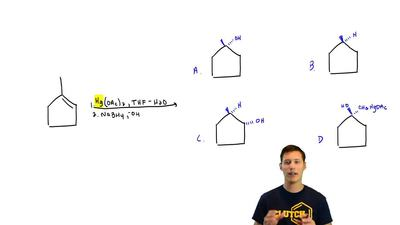 Oxymercuration of methylcyclopentene gives which of the following products? ...