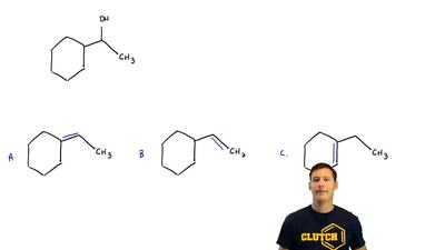 Which alkene would be expected to give the following alcohol by oxymercuration...