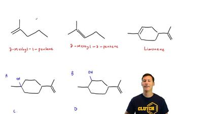 Given that 2-methyl-1-pentene undergoes oxymercuration–demercuration approxima...