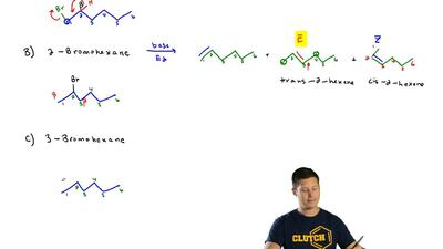 How many alkenes would you expect to be formed from each of the following alky...