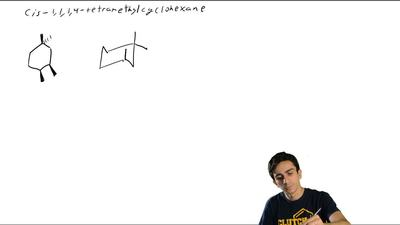Write a structural formula for the most stable conformation of each of the fol...