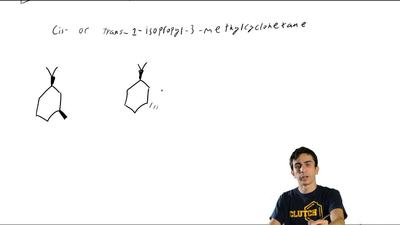 Identify the more stable stereoisomer in each of the following pairs, and give...