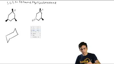 One stereoisomer of 1,1,3,5-tetramethylcyclohexane is 15 kJ/mol (3.7 kcal/mol)...