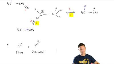 What term best describes the relationship between analkene and a carbocation?...