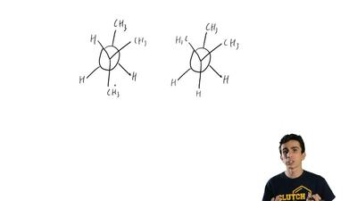 One of the staggered conformations of 2-methylbutane in Problem 3.21b is more ...