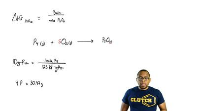 When 10.00 g of phosphorus is burned in O2(g) to form P4O10(s), enough heat is...