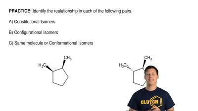 Identify the relationship in each of the following pairs.  A) Constitutional I...