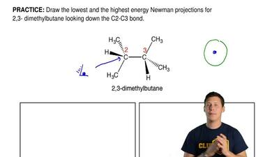 Draw the lowest and the highest energy Newman projections for 2,3- dimethylbut...